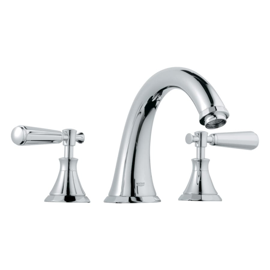 GROHE Kensington Chrome 2-Handle Adjustable Deck Mount Tub Faucet