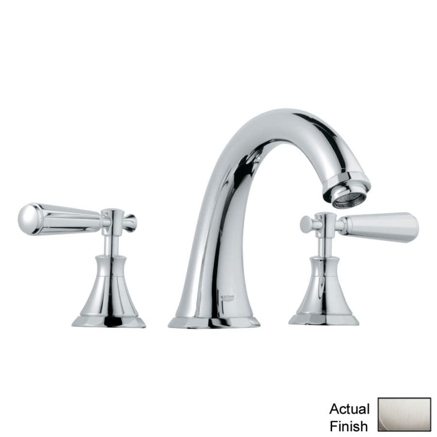 Shop GROHE Kensington Nickel 2-Handle Adjustable Deck Mount Bathtub ...