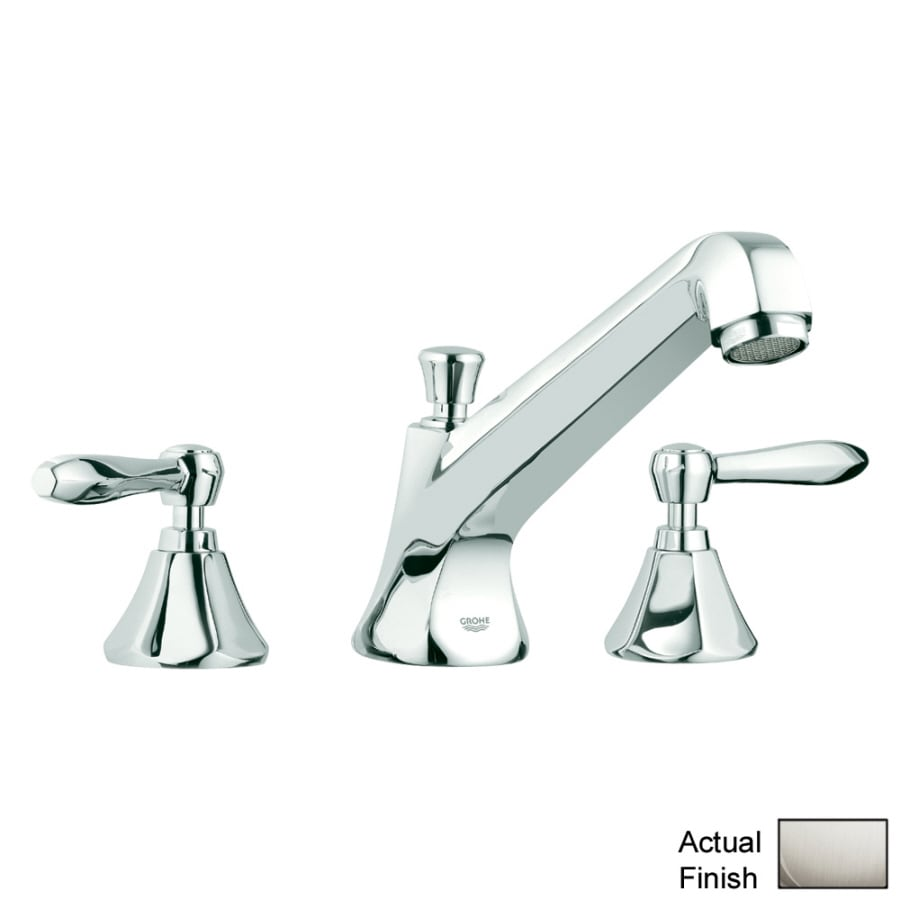 GROHE Somerset Nickel 2-Handle Adjustable Deck Mount Bathtub Faucet