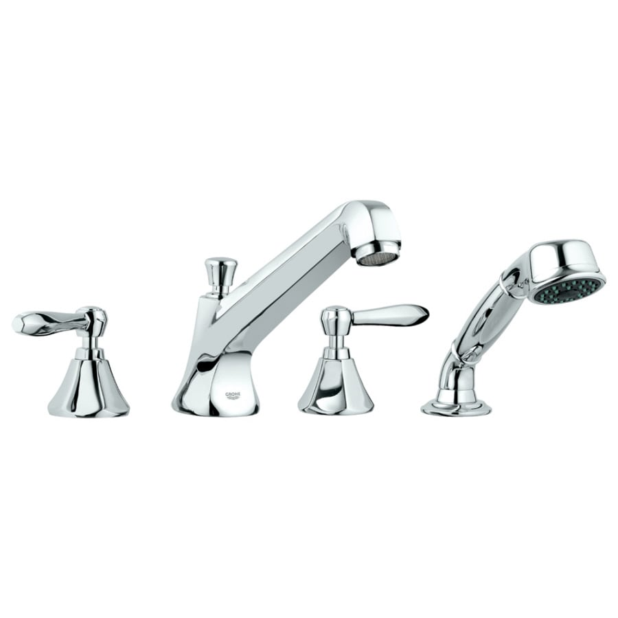 GROHE Somerset Chrome 2-Handle Adjustable Deck Mount Tub Faucet