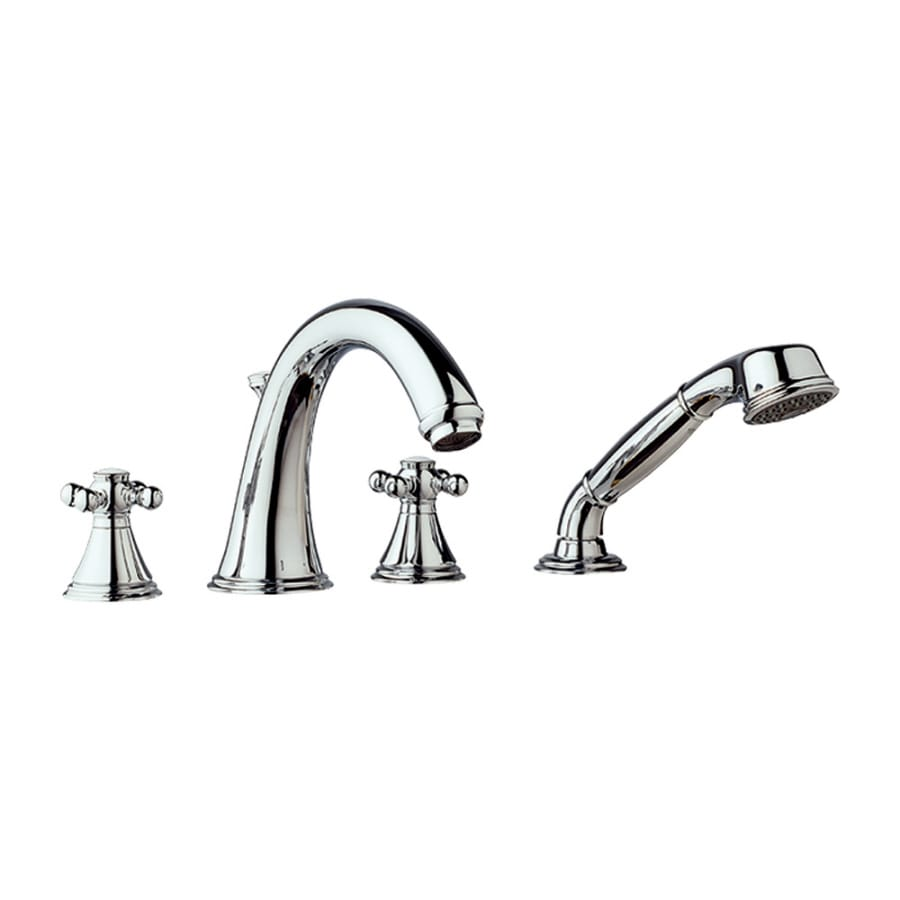 GROHE Geneva Chrome 2-Handle Adjustable Deck Mount Tub Faucet