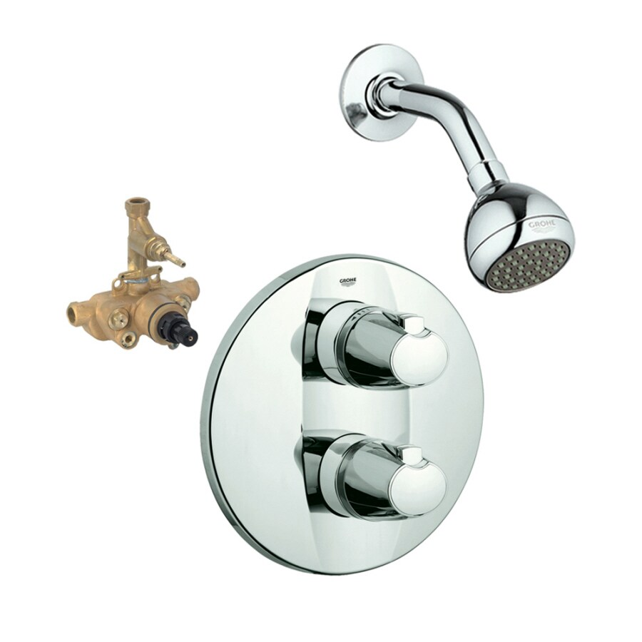GROHE Grotherm Starlight Chrome 2-Handle Shower Faucet with Single Function Showerhead