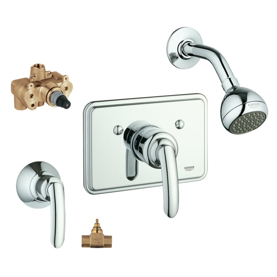 Shop GROHE Talia Starlight Chrome 1-Handle Shower Faucet with Single ...