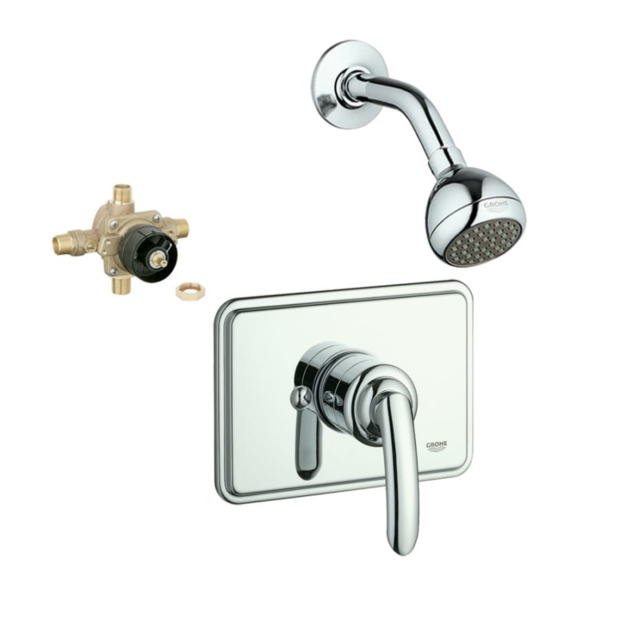 GROHE Talia Starlight Chrome 1-Handle Shower Faucet with Single Function Showerhead