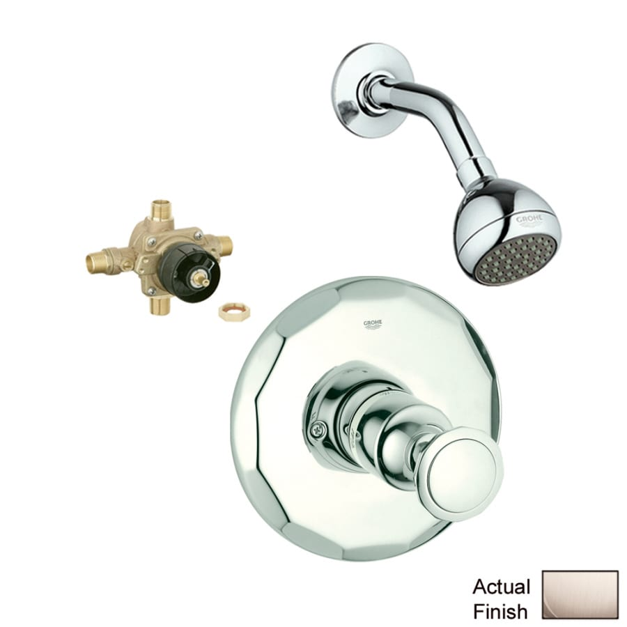 GROHE Kensington Brushed Nickel 1-Handle Shower Faucet with Single Function Showerhead