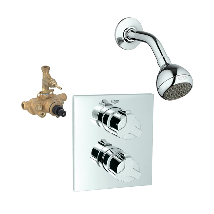 Grohe Allure Bathroom Faucet: Shop GROHE Allure Starlight Chrome 2-Handle Shower Faucet