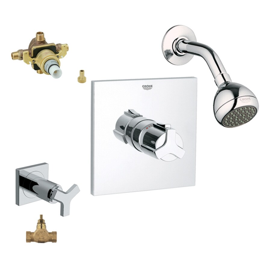 Shop GROHE Allure Starlight Chrome 1-Handle Faucet with Valve at ...