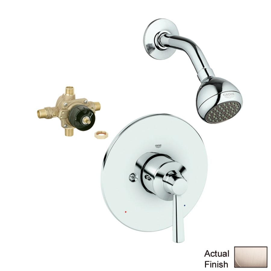 GROHE Arden Brushed Nickel 1-Handle Shower Faucet with Single Function Showerhead