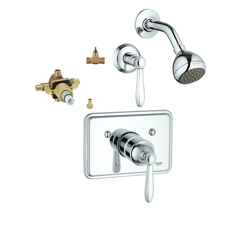 GROHE Somerset Starlight Chrome 1-Handle Shower Faucet with Single Function Showerhead