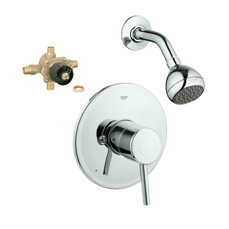 GROHE Concetto Starlight Chrome 1-Handle Shower Faucet with Single Function Showerhead