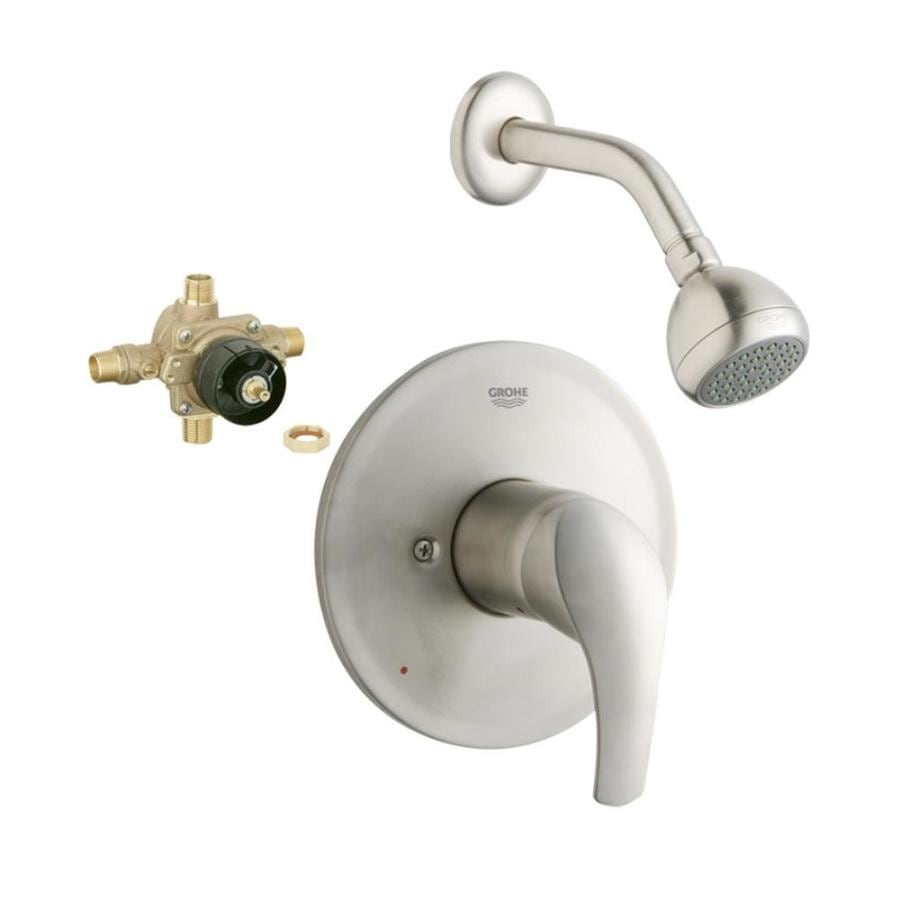 Shop Grohe Eurosmart Brushed Nickel 1 Handle Shower Faucet With Valve At