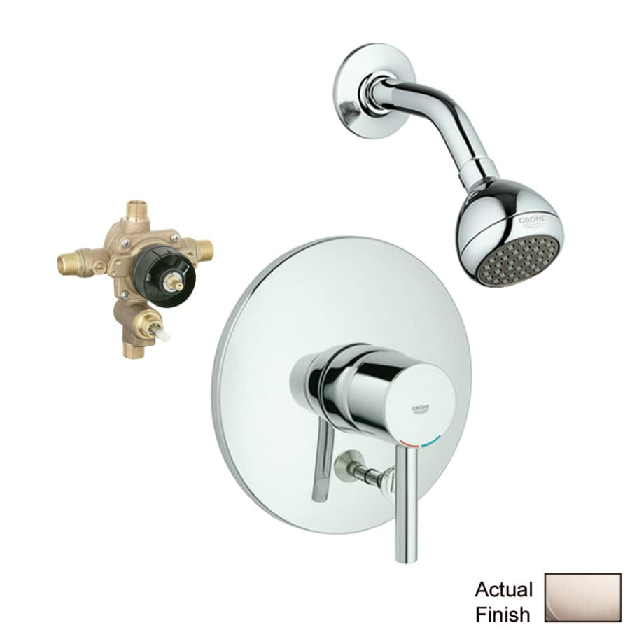 GROHE Essence Brushed Nickel 1-Handle Shower Faucet with Single Function Showerhead