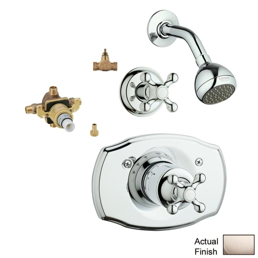 GROHE Seabury Brushed Nickel 1-Handle Shower Faucet with Single Function Showerhead