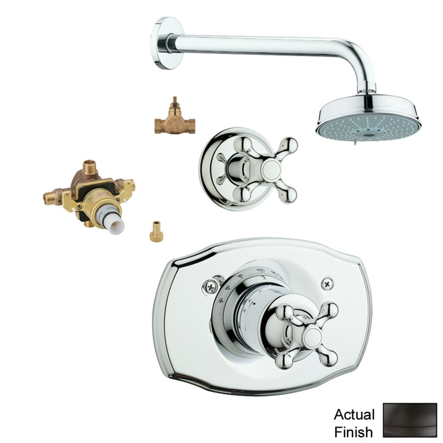 GROHE Seabury Oil-Rubbed Bronze 1-Handle Shower Faucet with Multi-Function Showerhead