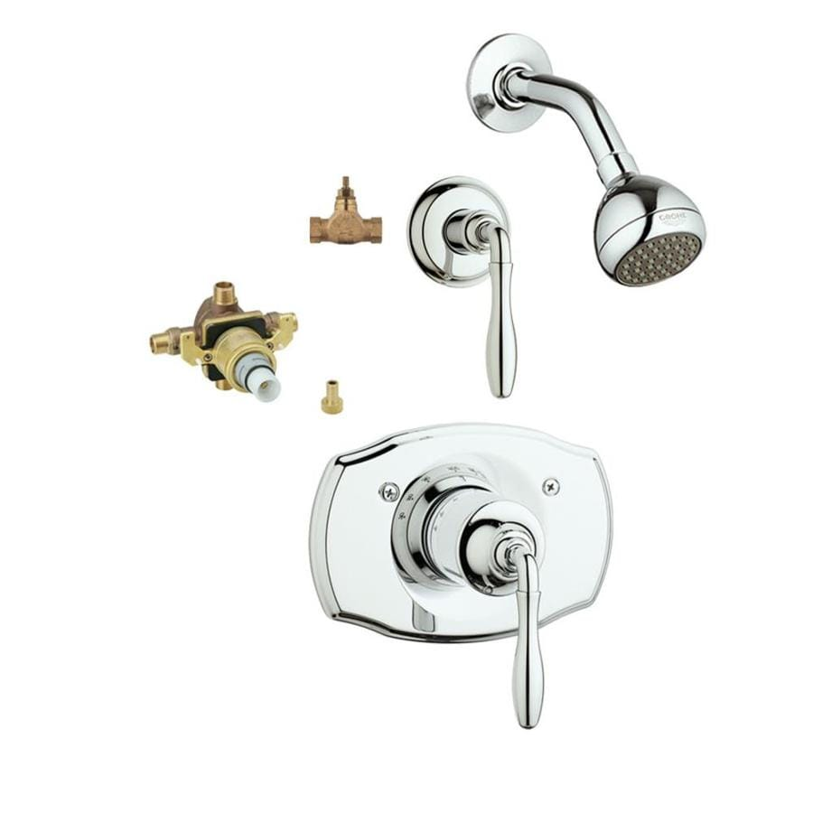 GROHE Seabury Starlight Chrome 1-Handle Shower Faucet with Valve