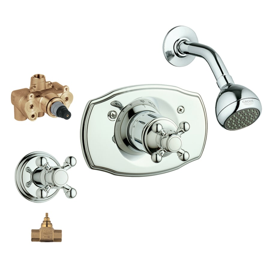 GROHE Geneva Starlight Chrome 1-Handle Shower Faucet with Single Function Showerhead