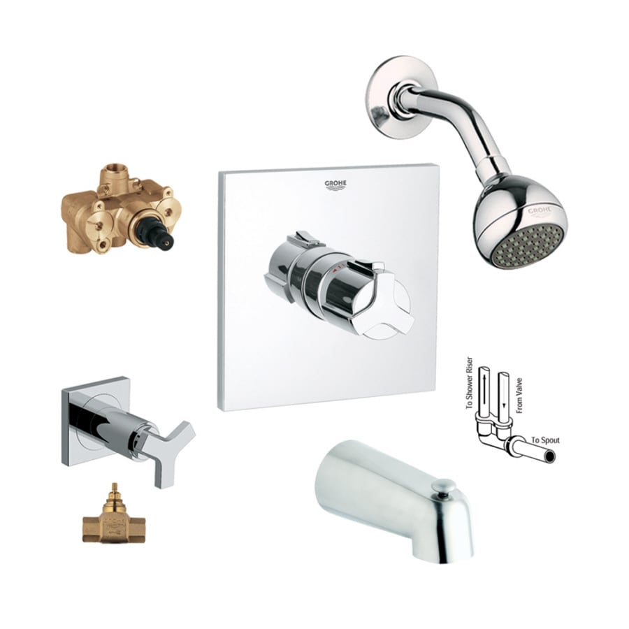 Grohe Allure Bathroom Faucet: GROHE Allure Starlight Chrome 2-Handle Bathtub And Shower