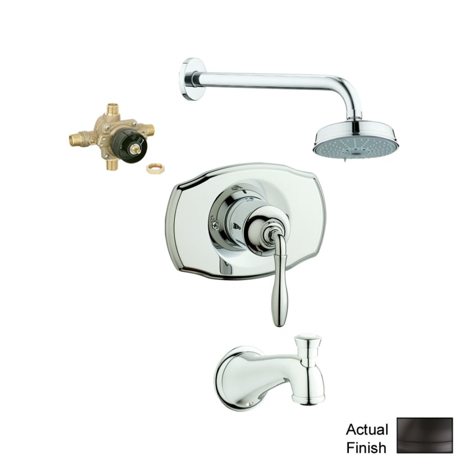 shop grohe seabury oil rubbed bronze 1 handle faucet with valve at. Black Bedroom Furniture Sets. Home Design Ideas