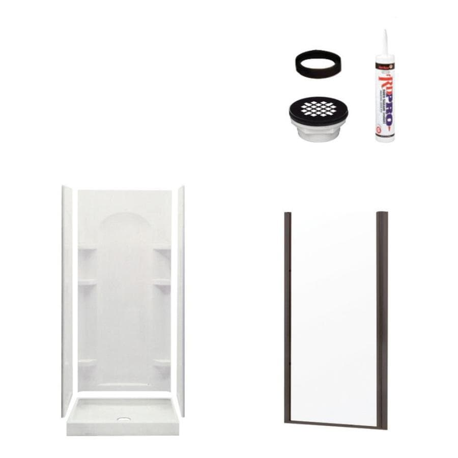 Sterling Ensemble White 4-Piece Alcove Shower Kit (Common: 34-in x 36-in; Actual: 34-in x 36-in)