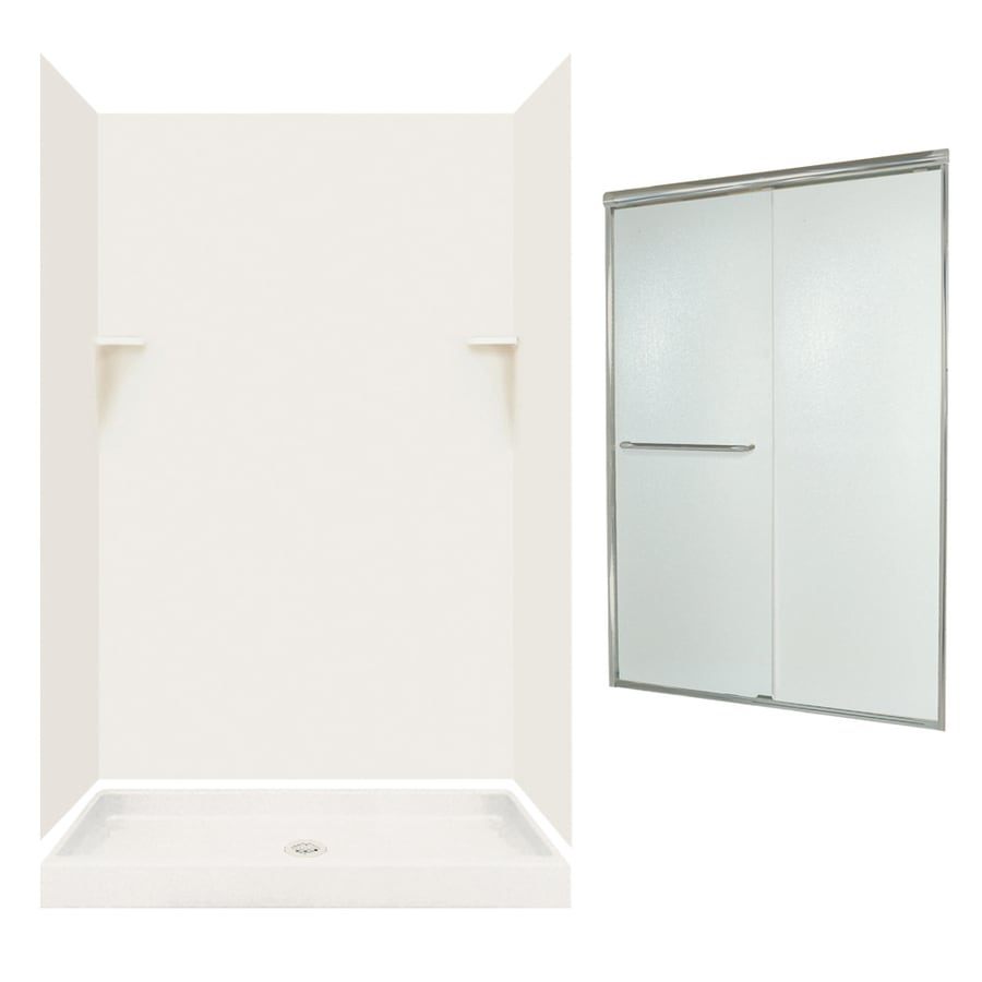 Swanstone Bisque 5-Piece Alcove Shower Kit (Common: 48-in x 32-in; Actual: 47-in x 31.125-in)