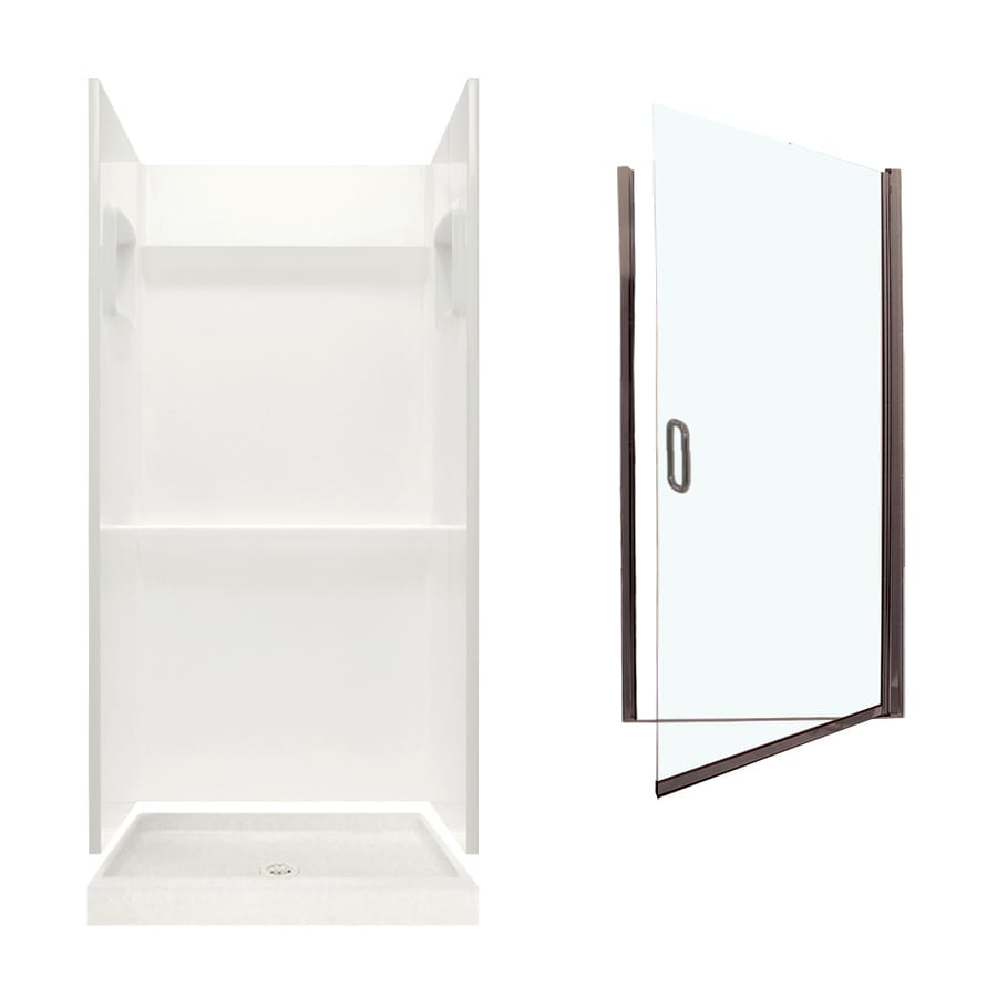Swanstone Veritek Bisque 3-Piece Alcove Shower Kit (Common: 32-in x 32-in; Actual: 73.25-in x 32-in x 32-in)