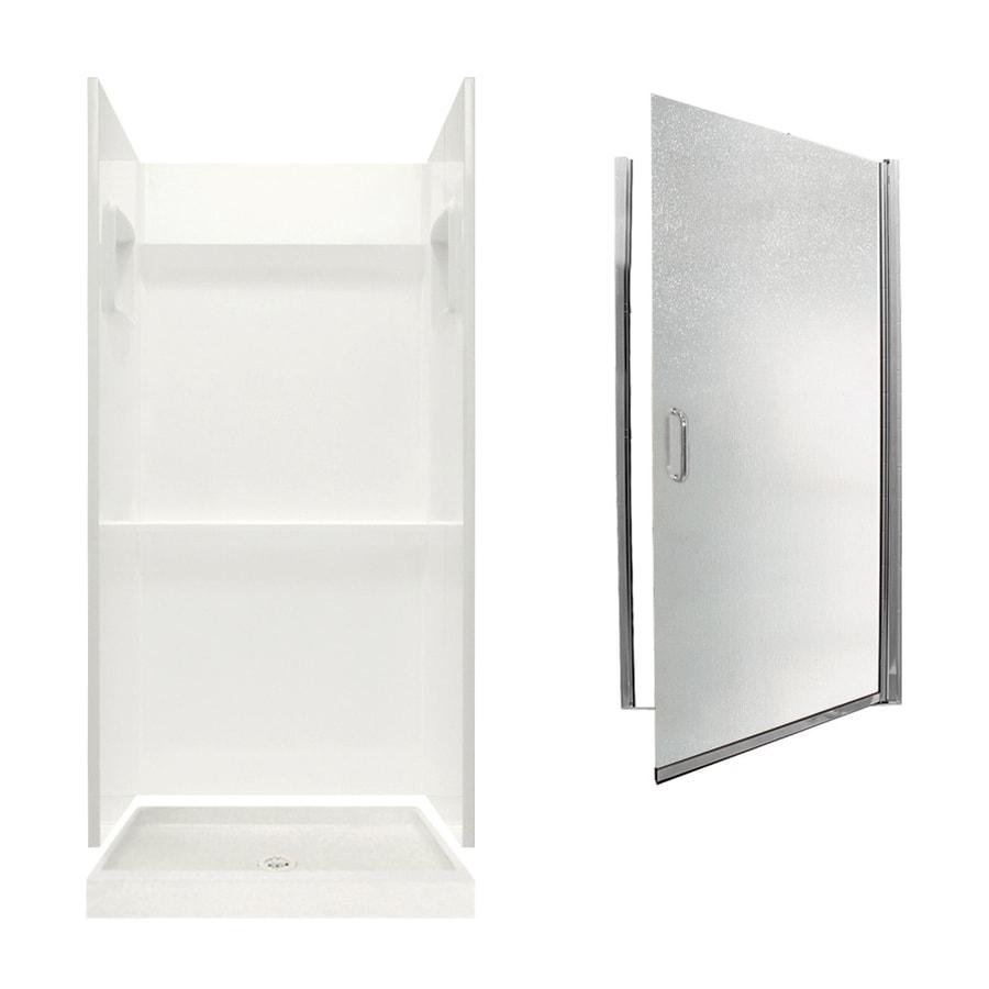 Swanstone Veritek Bisque 3-Piece Alcove Shower Kit (Common: 32-in x 32-in; Actual: 32-in x 32-in)