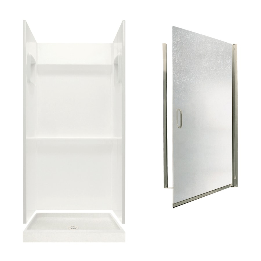 Swanstone Veritek Bisque 3-Piece Alcove Shower Kit (Common: 32-in x 32-in; Actual: 32-in x 32-in)