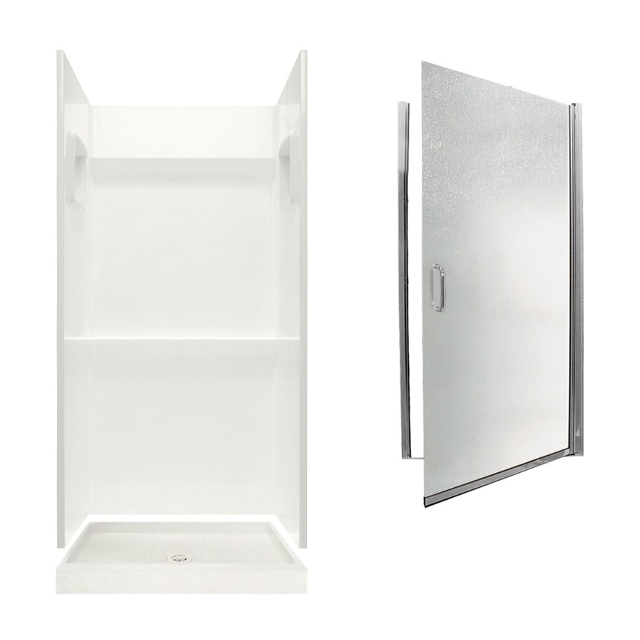 Swanstone Veritek Bisque 3-Piece Alcove Shower Kit (Common: 36-in x 36-in; Actual: 36-in x 36-in)