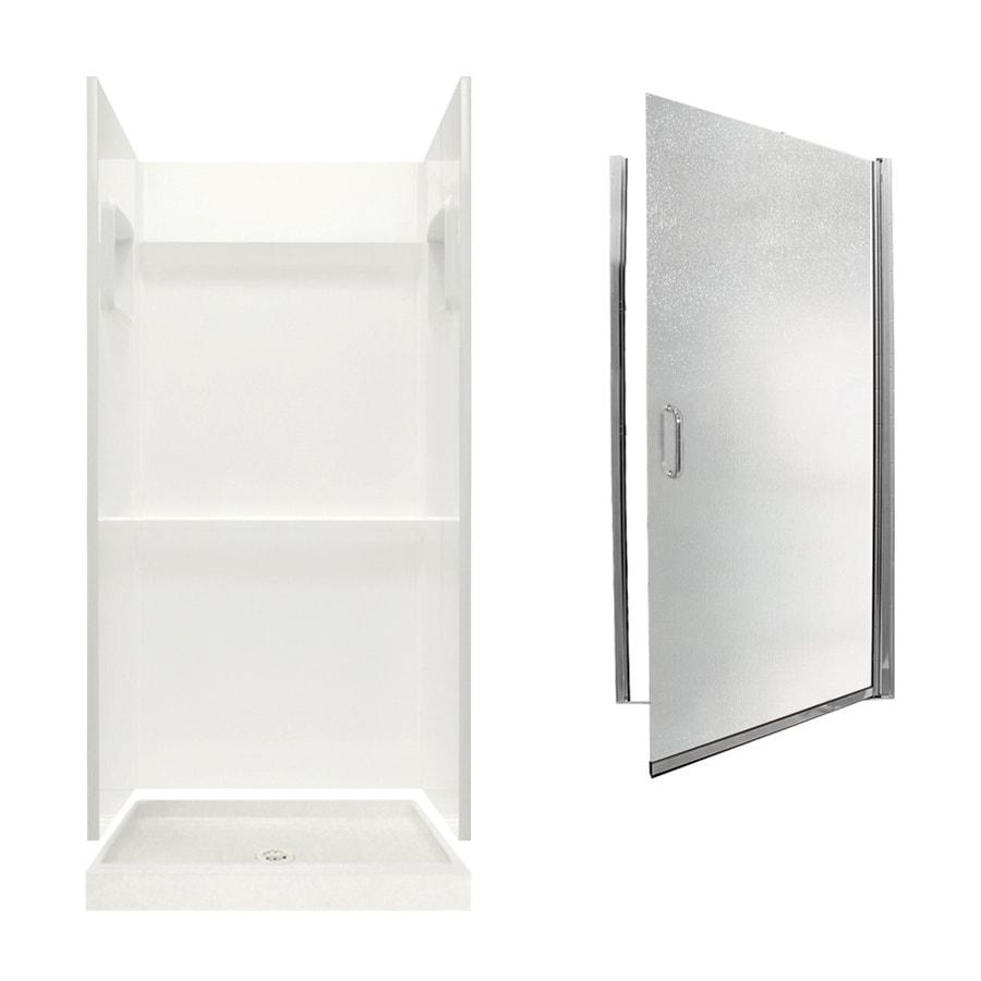 Swanstone Veritek Bisque 3-Piece Alcove Shower Kit (Common: 36-in x 36-in; Actual: 73.25-in x 36-in x 36-in)