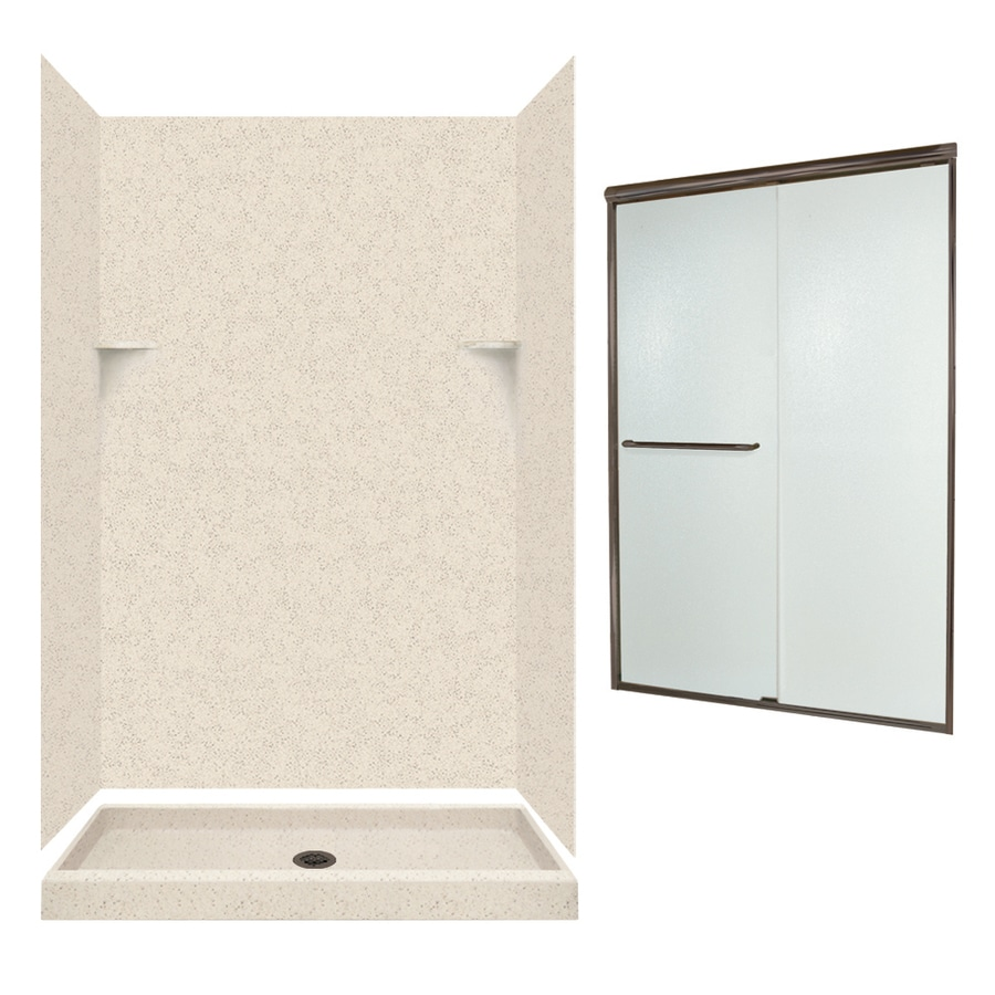 Swanstone Tahiti Desert 5-Piece Alcove Shower Kit (Common: 48-in x 32-in; Actual: 72-in x 47-in x 31.125-in)