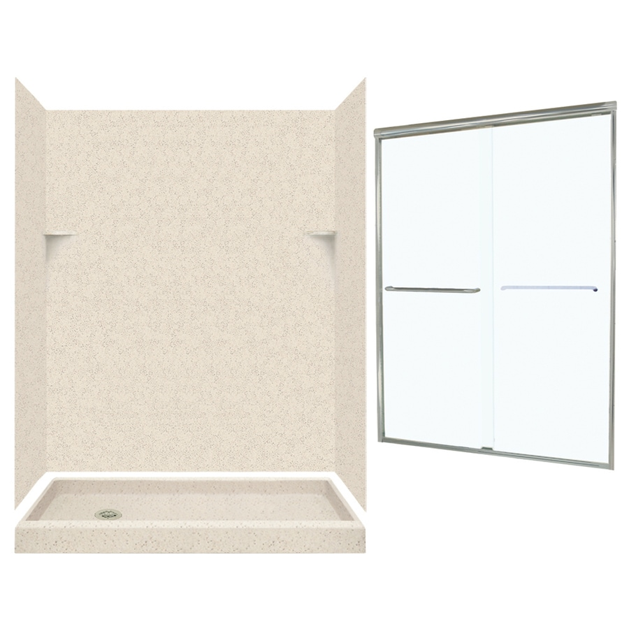 Swanstone Tahiti Desert 5-Piece Alcove Shower Kit (Common: 60-in x 32-in; Actual: 72-in x 59-in x 31.125-in)