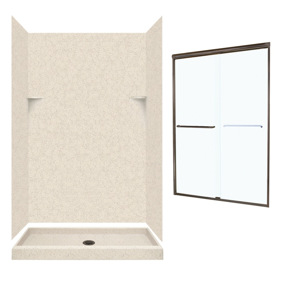 Swanstone Tahiti Desert 5-Piece Alcove Shower Kit (Common: 48-in x 34-in; Actual: 72-in x 47-in x 33.125-in)