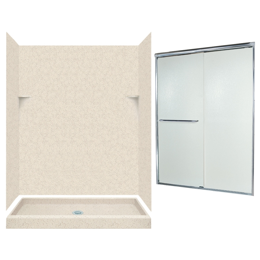 Swanstone Tahiti Desert 5-Piece Alcove Shower Kit (Common: 60-in x 34-in; Actual: 59-in x 33.125-in)