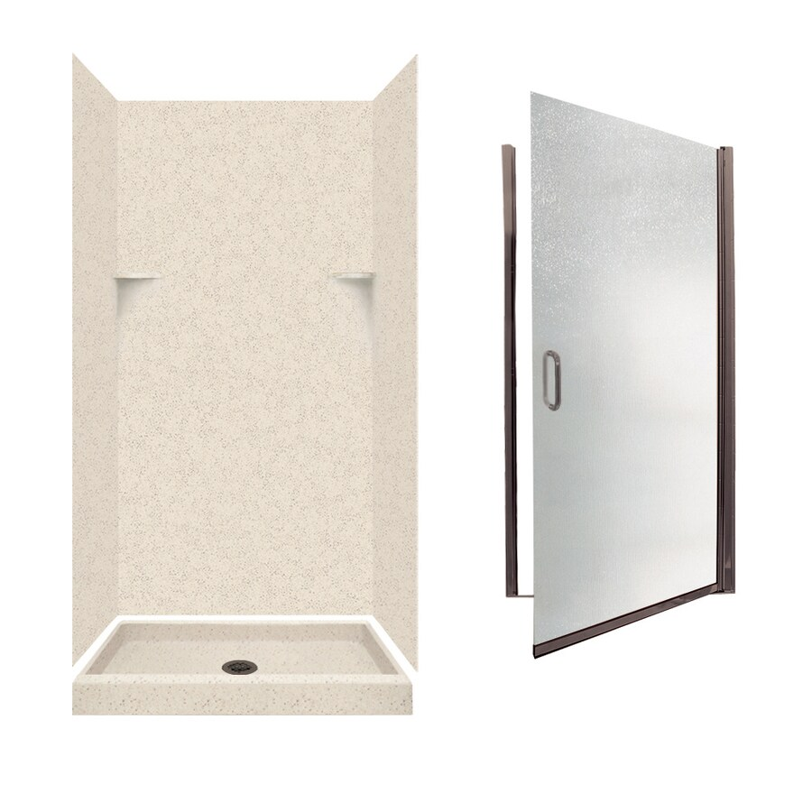Swanstone Tahiti Desert Solid Surface Wall and Floor 5-Piece Alcove Shower Kit (Common: 36-in x 36-in; Actual: 72-in x 35-in x 35.125-in)