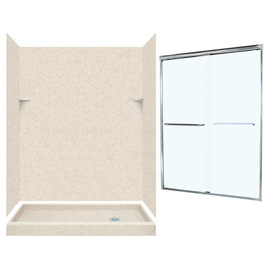 Swanstone Tahiti Desert 5-Piece Alcove Shower Kit (Common: 60-in x 32-in; Actual: 59-in x 31.125-in)