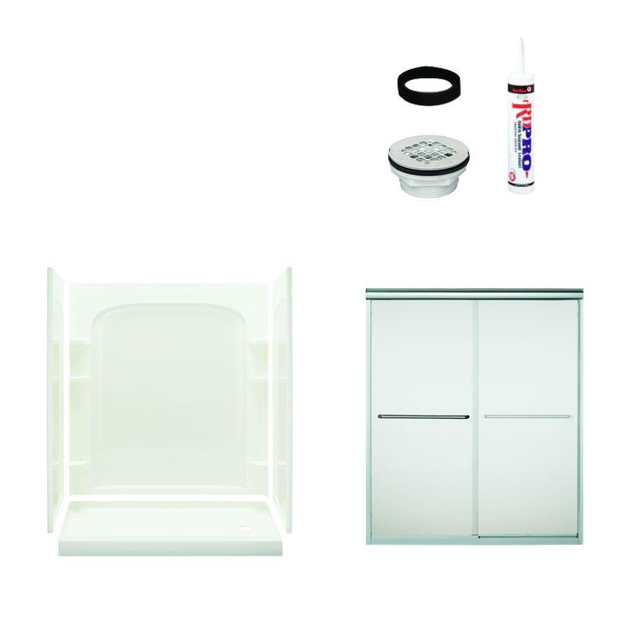 Sterling Ensemble White 5-Piece Alcove Shower Kit (Common: 30-in x 60-in; Actual: 30-in x 60-in)