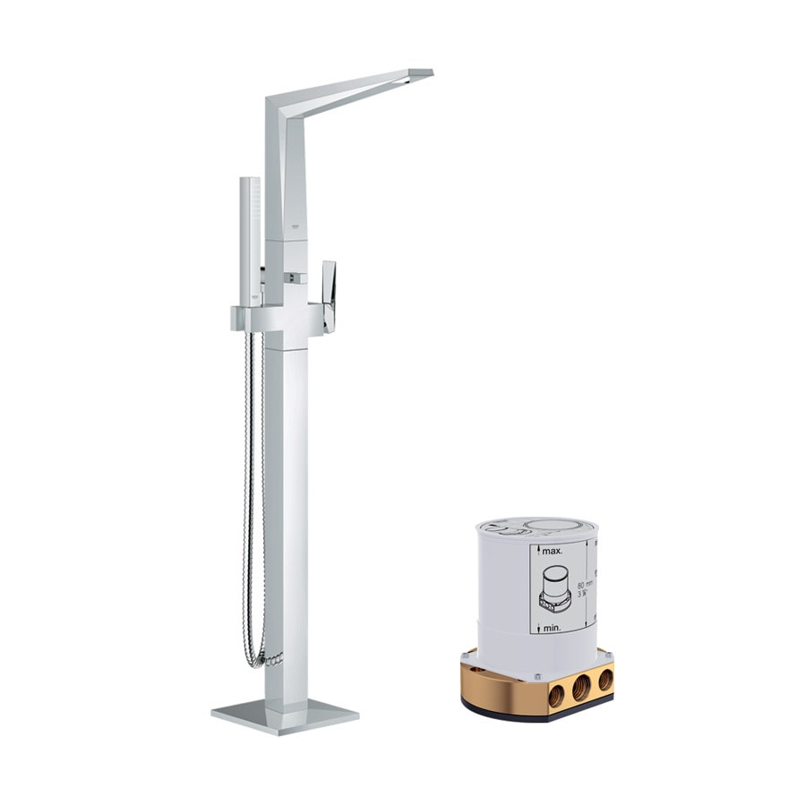 Shop GROHE Allure Brilliant Starlight Chrome 1 Handle Adjustable Wall Mount B