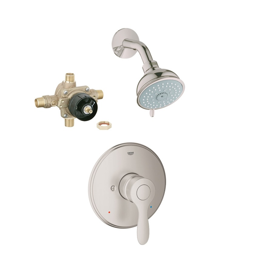 GROHE Parkfield Brushed Nickel 1-Handle Shower Faucet with Multi-Function Showerhead