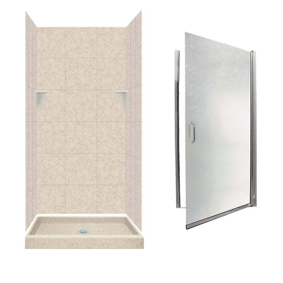 Swanstone Tahiti Desert 5-Piece Alcove Shower Kit (Common: 36-in x 36-in; Actual: 72.5-in x 36-in x 36-in)