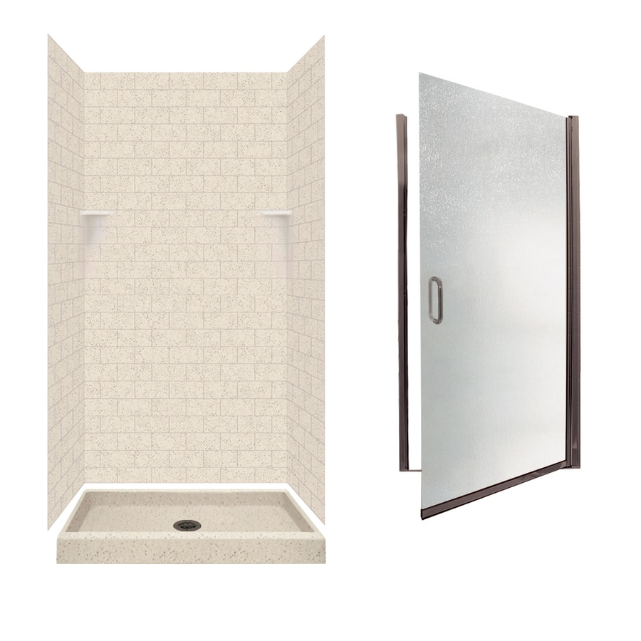 Swanstone Tahiti Desert 5-Piece Alcove Shower Kit (Common: 36-in x 36-in; Actual: 36-in x 36-in)