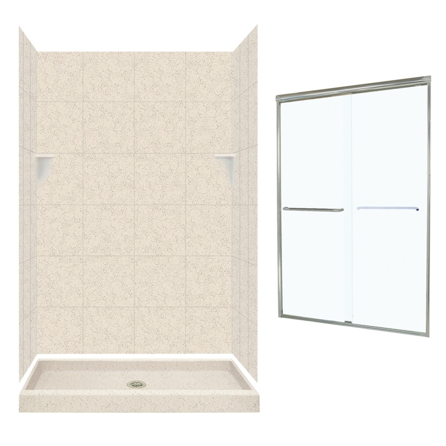 Swanstone Tahiti Desert 5-Piece Alcove Shower Kit (Common: 48-in x 34-in; Actual: 72.5-in x 48-in x 34-in)