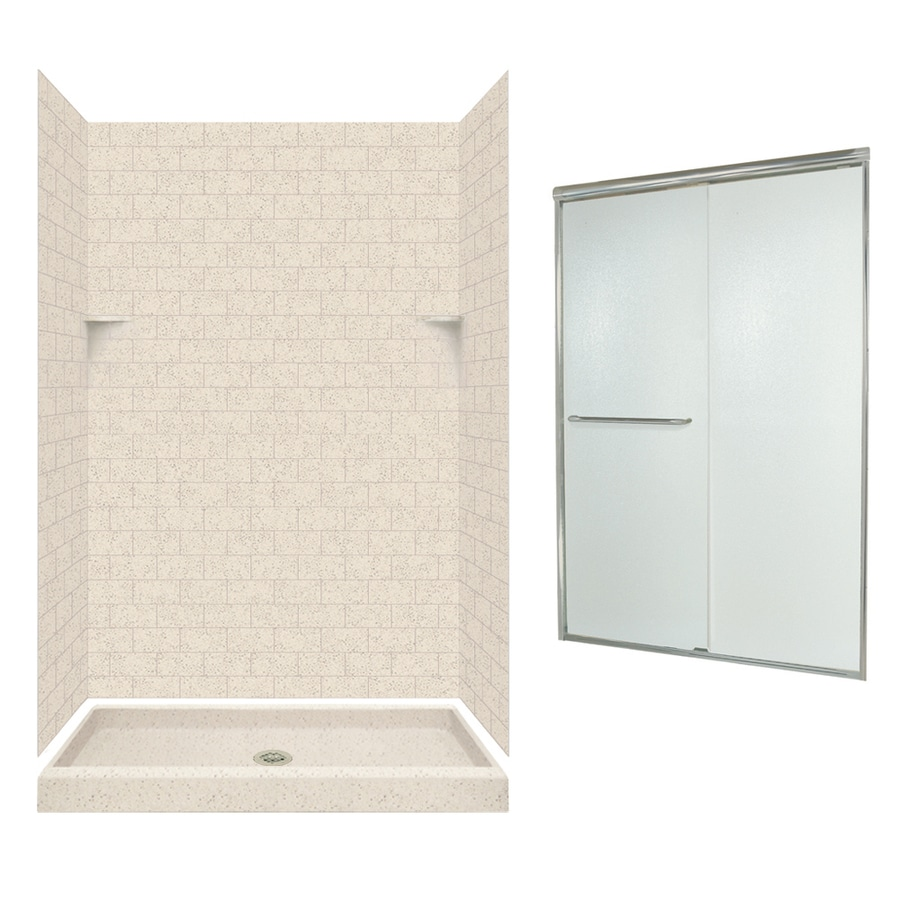 Swanstone Tahiti Desert 5-Piece Alcove Shower Kit (Common: 48-in x 34-in; Actual: 48-in x 34-in)