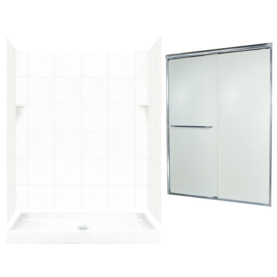 Swanstone White 5-Piece Alcove Shower Kit (Common: 60-in x 34-in; Actual: 72.5-in x 60-in x 34-in)