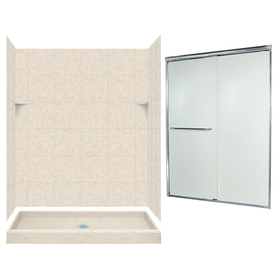 Swanstone Tahiti Desert 5-Piece Alcove Shower Kit (Common: 60-in x 34-in; Actual: 60-in x 34-in)