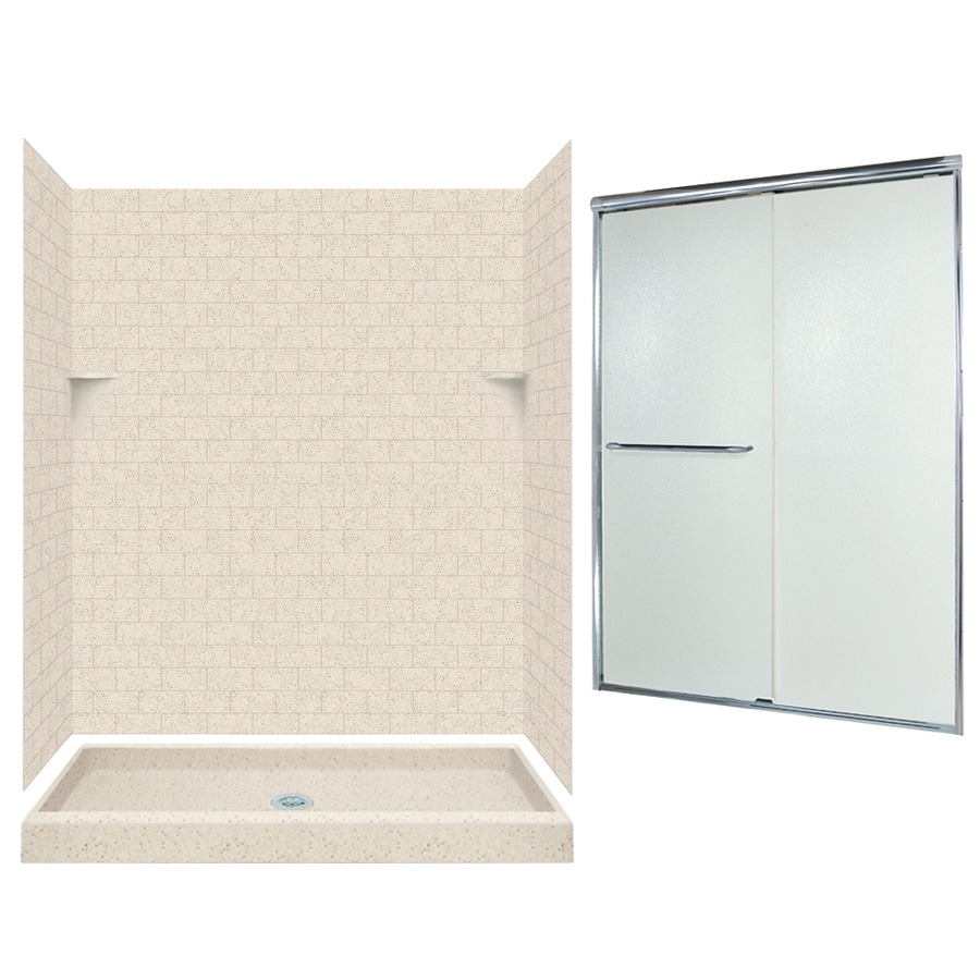 Swanstone Tahiti Desert 5-Piece Alcove Shower Kit (Common: 60-in x 34-in; Actual: 72.5-in x 60-in x 34-in)