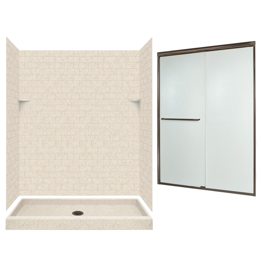 Shop Swanstone Tahiti Desert 5-Piece Alcove Shower Kit (Common: 60 ...