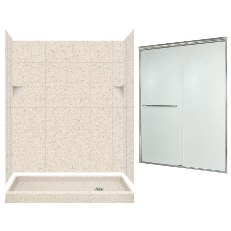 Swanstone Tahiti Desert 5-Piece Alcove Shower Kit (Common: 60-in x 32-in; Actual: 72.5-in x 60-in x 32-in)