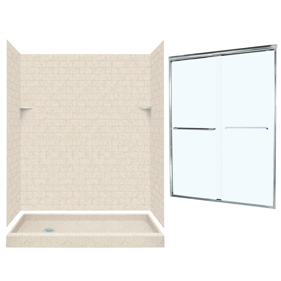 Swanstone Tahiti Desert 5-Piece Alcove Shower Kit (Common: 60-in x 32-in; Actual: 60-in x 32-in)