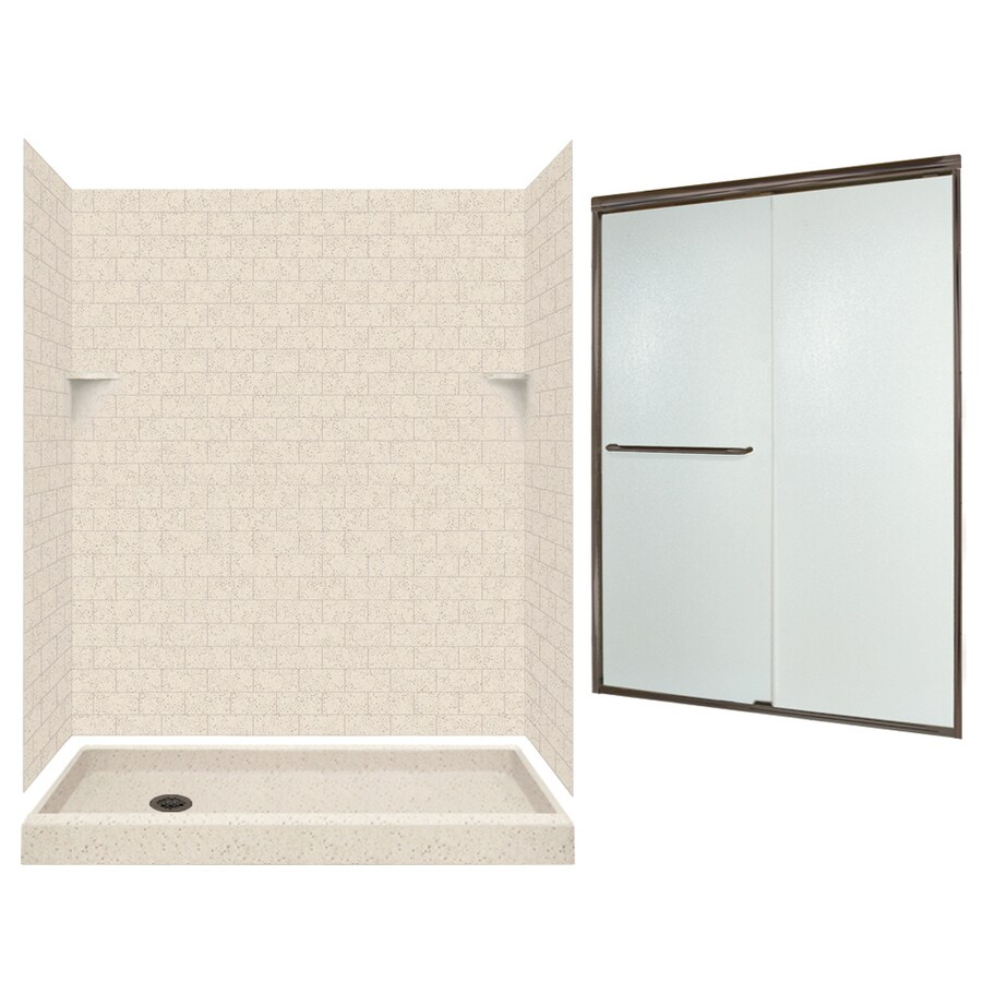 Swanstone Tahiti Desert 5 Piece Alcove Shower Kit (Common: 60 In X