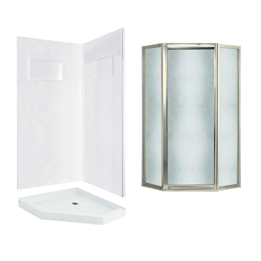 Shop Swanstone Veritek White Fiberglass Plastic Wall And